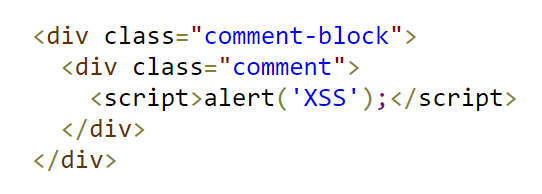 An example of XSS